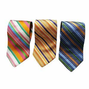 Tommy Hilfiger Men's Striped Neck Ties Lot of 3